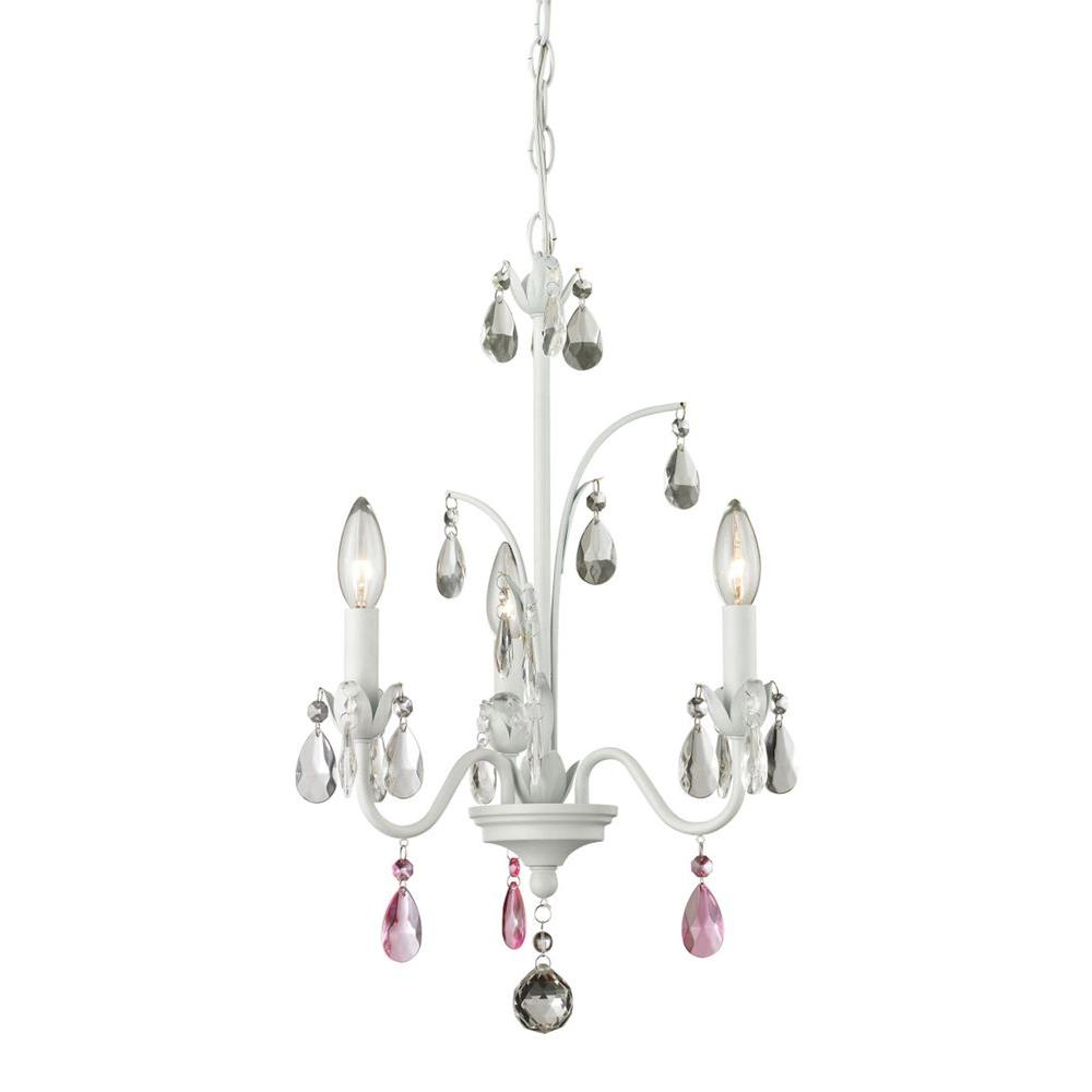 Queen 3-Light Matte White Chandelier