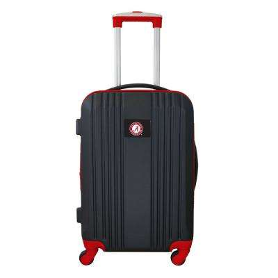 NCAA Alabama 21 in. Red Hardcase 2-Tone Luggage Carry-On Spinner Suitcase