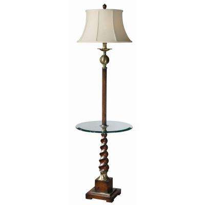 65 in. Cherry Floor Lamp
