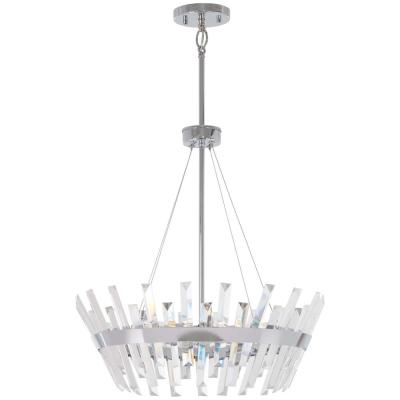 Echo Radiance 6-Light Chrome Pendant with Clear Glass Shade
