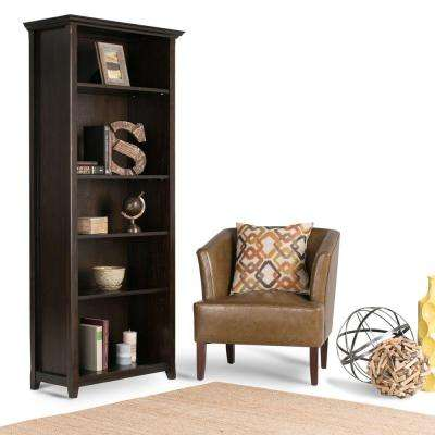 Amherst Dark Brown Open Bookcase