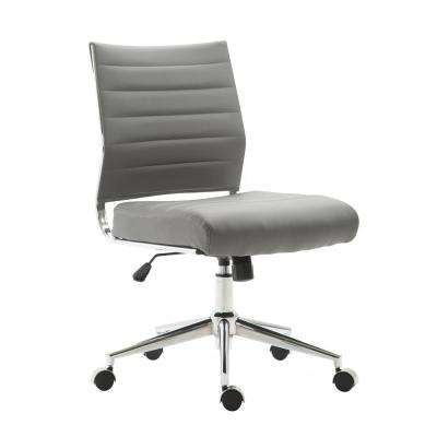 Tremaine Task Grey Chair in Vegan Leather
