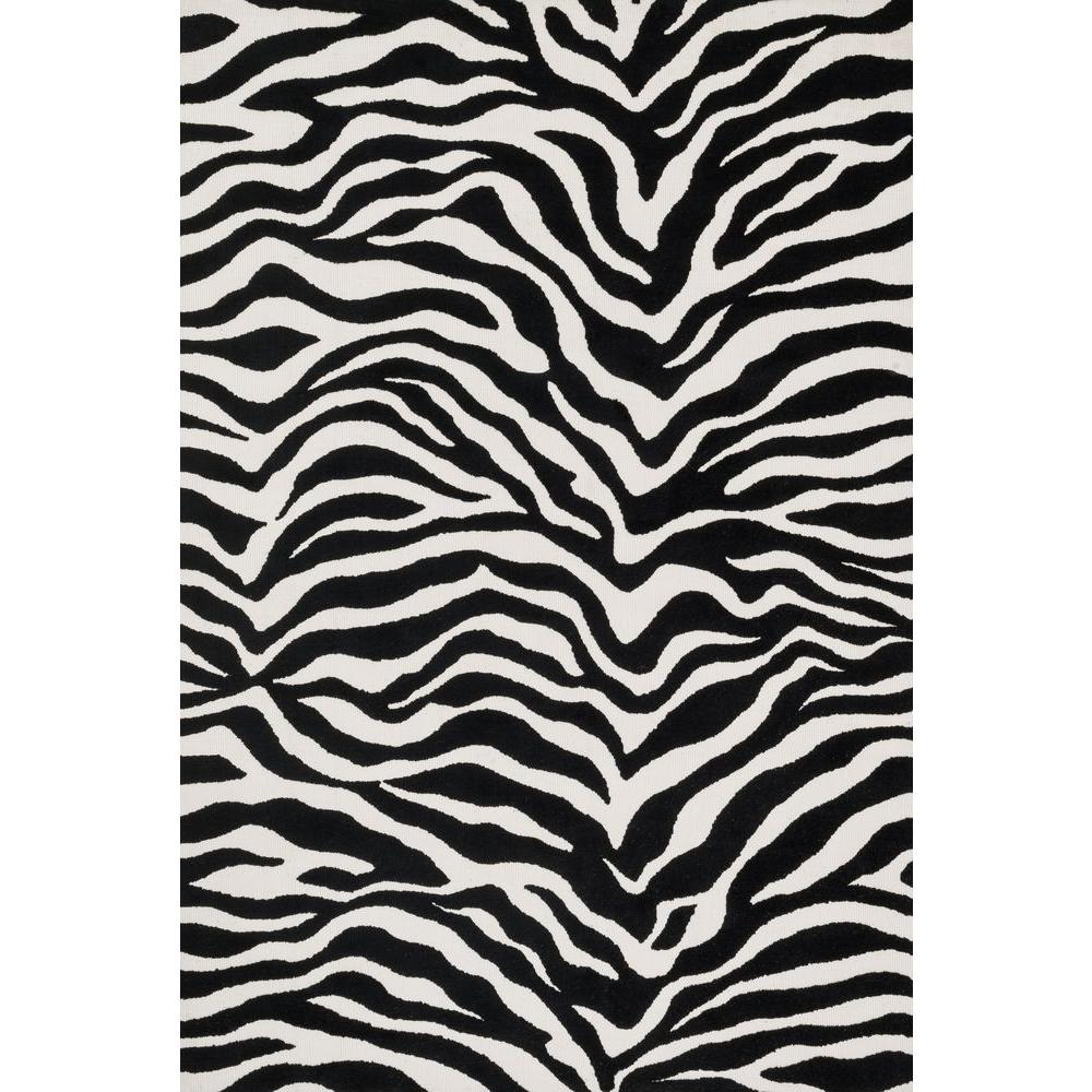 Loloi Rugs Cassidy Lifestyle Collection Ivory/Black 7 ft. 6 in. x 9 ft. 6 in. Area Rug