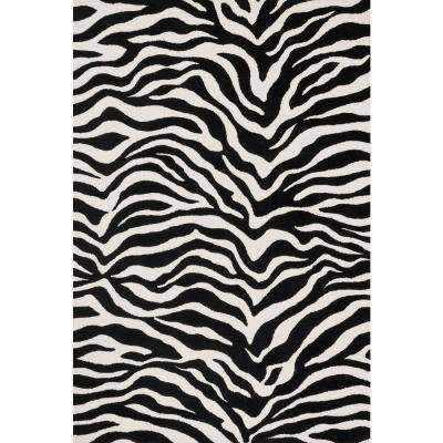 Cassidy Lifestyle Collection Ivory/Black 7 ft. 6 in. x 9 ft. 6 in. Area Rug