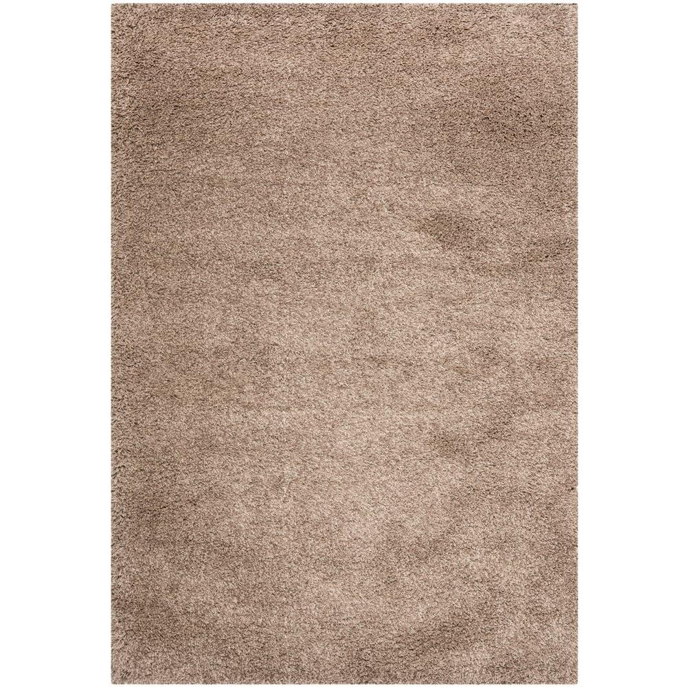 California Shag Taupe 5 ft. 3 in. x 7 ft. 6