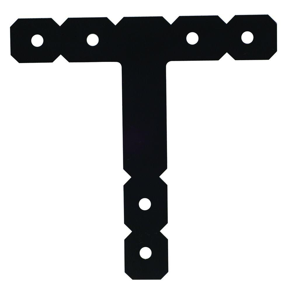 Simpson Strong-Tie OT 12 in. x 12 in. Black Powder-Coated Ornamental T Strap