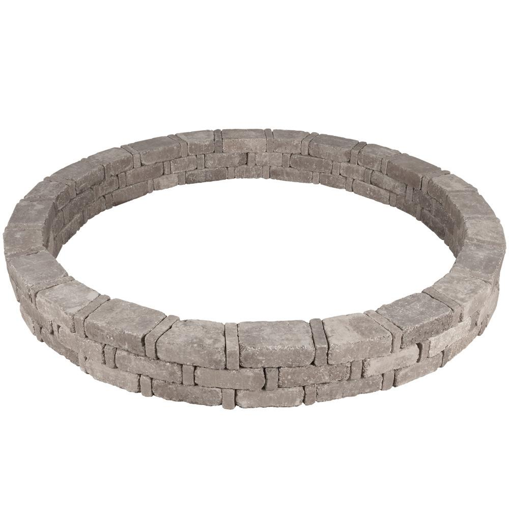 Pavestone RumbleStone 93 in. x 10.5 in. Tree Ring Kit in Greystone