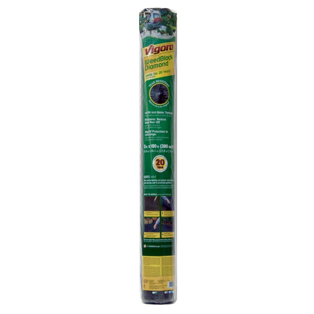 3 ft. x 100 ft. Polyethylene Weed Barrier Landscape Fabric