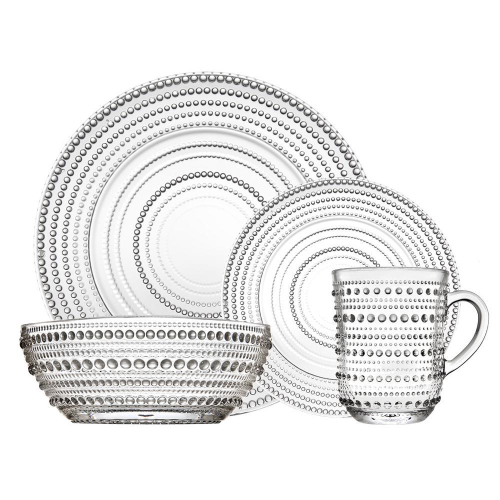 Lumina Crystal Dinnerware Set 16 pc