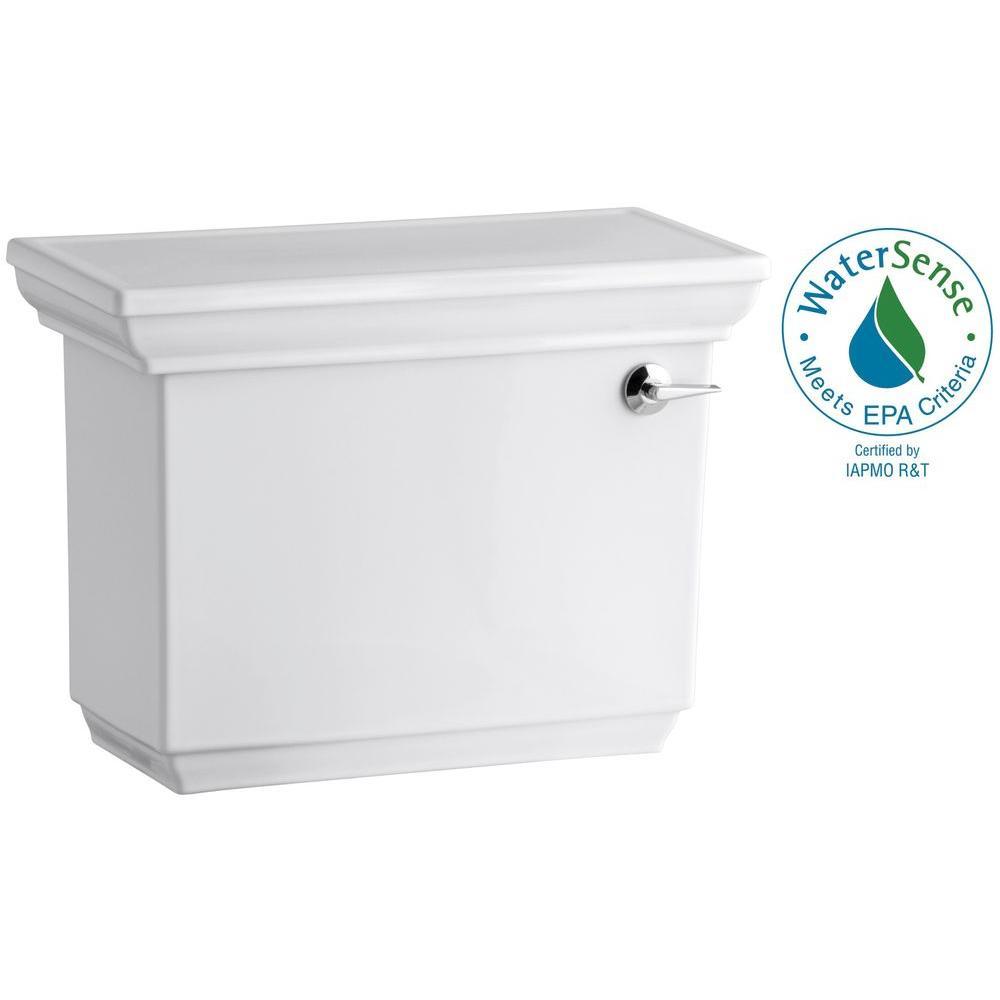 Memoirs Stately 1.28 GPF Single Flush Toilet Tank Only with AquaPiston Flush Technology in White