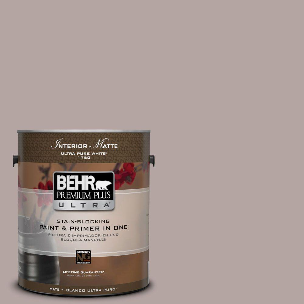 BEHR Premium Plus Ultra Home Decorators Collection 1 gal. #HDC-NT-19 Lavender Suede Flat/Matte Interior Paint