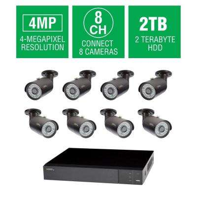 8-Channel 4MP 2TB DVR Surveillance System with (8) 4MP Bullet Cameras
