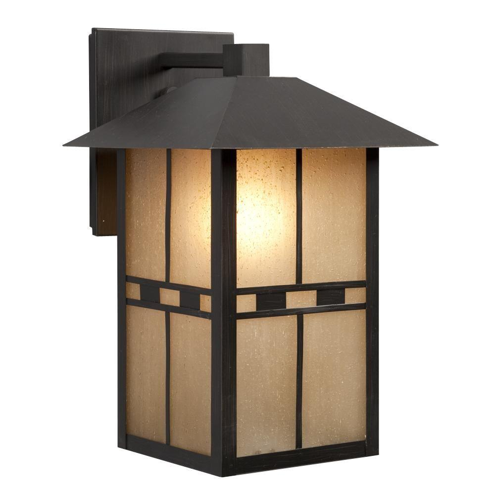 Negron 1-Light Outdoor Oil Rubbed Bronze Wall Lantern