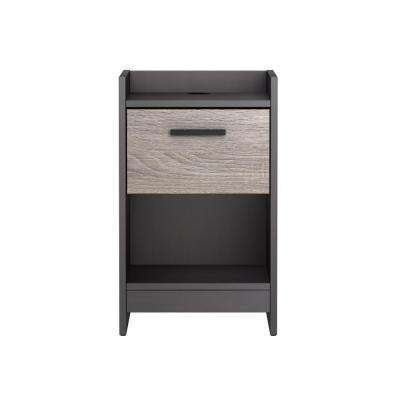 Central Park 1-Drawer Java Brown/Sonoma Nightstand