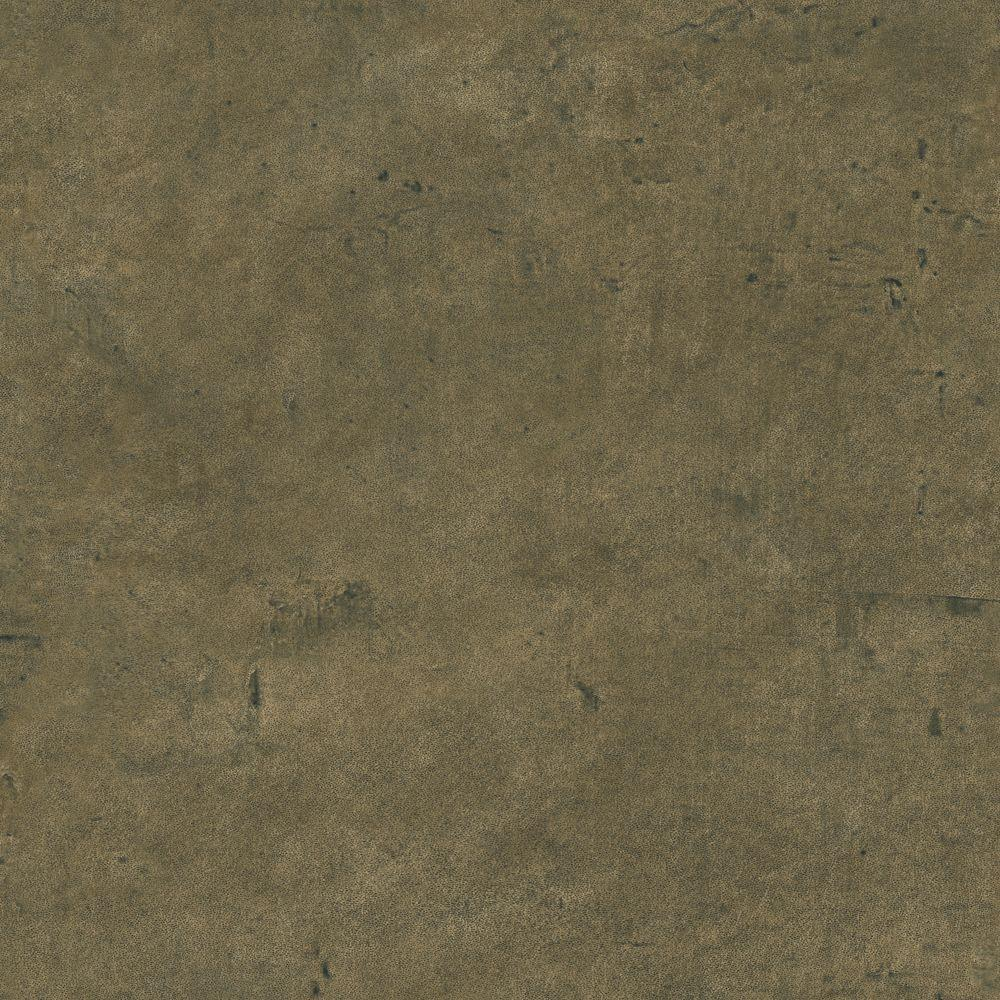 The Wallpaper Company 56 sq. ft. Brown Leather Wallpaper