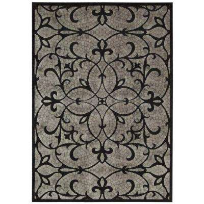 Graphic Illusions Black 8 ft. x 11 ft. Area Rug