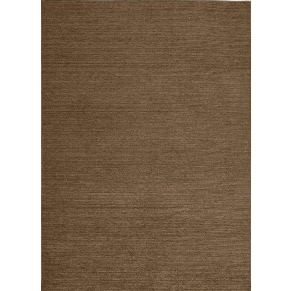 Ruggable Washable Solid Chenille Tobacco 5 ft. x 7 ft. Stain Resistant Area Rug