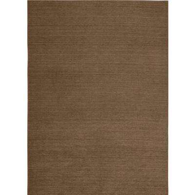 Washable Solid Tobacco 5 ft. x 7 ft. Stain Resistant Area Rug