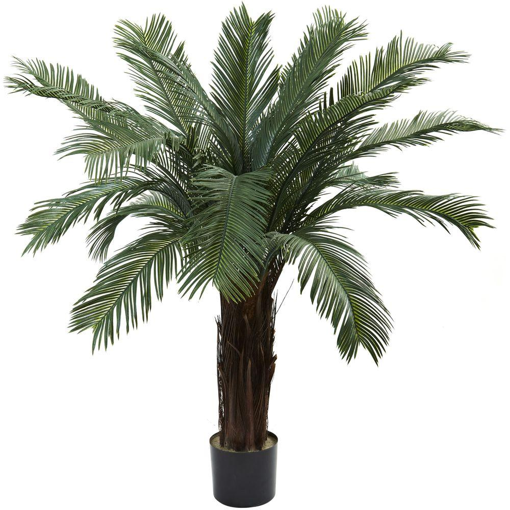 Nearly Natural 4 ft. UV Resistant Indoor/Outdoor Cycas Tree