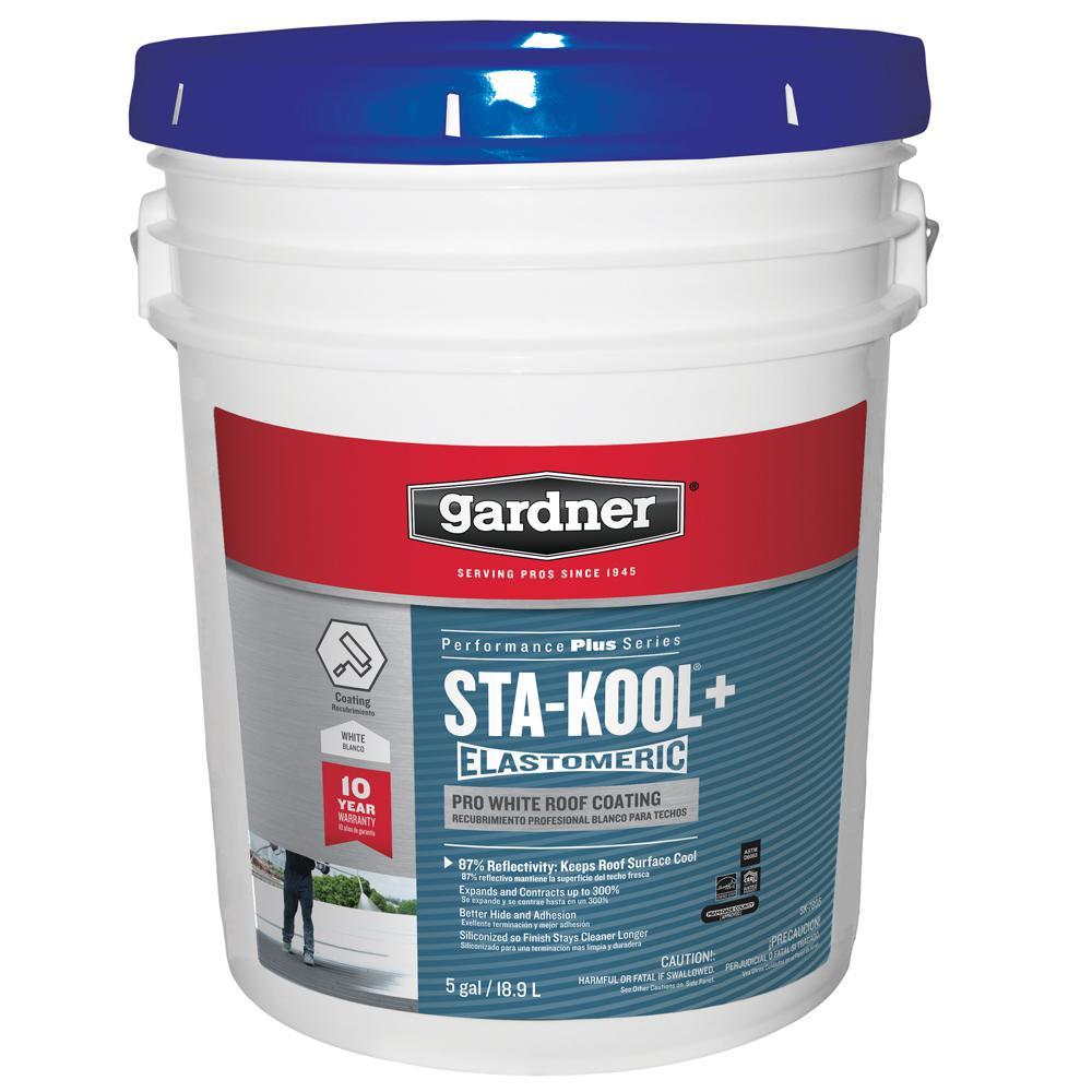5 gal. Sta-Kool+ Pro White Roof Coating (27-Pallet)