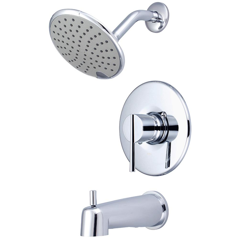 i2v 1-Handle Wall Mount Tub and Shower Trim Kit in Polished