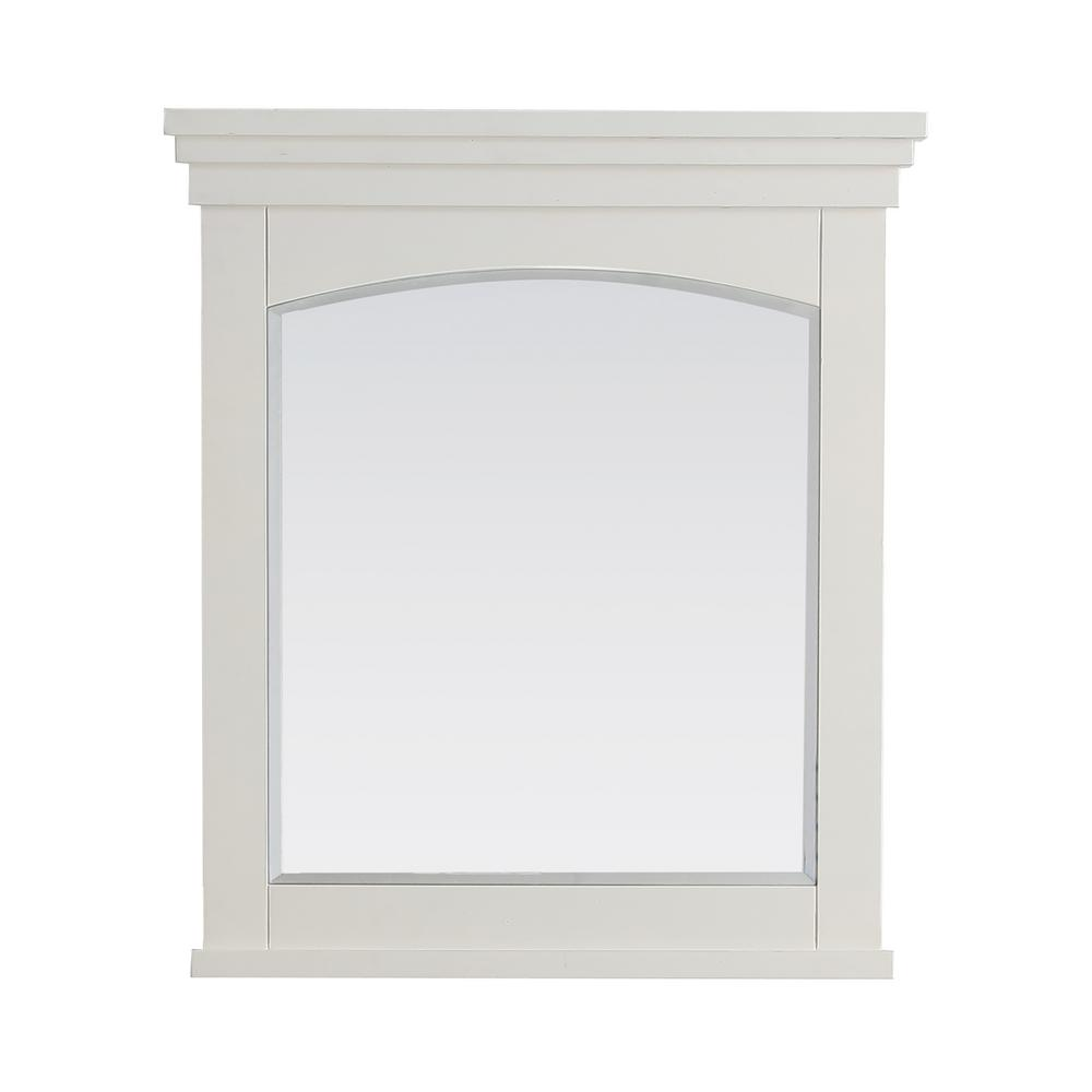 simpli home elise 30 in x 34 in bath vanity mirror in soft white axcmir 3034 el the home depot