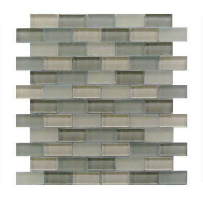 Free Flow Gray 12 in. x 12 in. x 8 mm Glass Mesh-Mounted Mosaic Tile