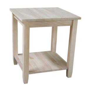 International Concepts Solano Unfinished End Table by International Concepts