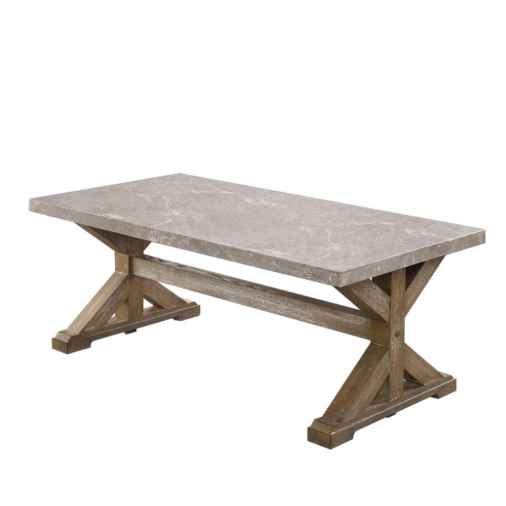 Natural Coffee Tables: Furniture Of America Landon Natural Coffee Table-IDF-4429C