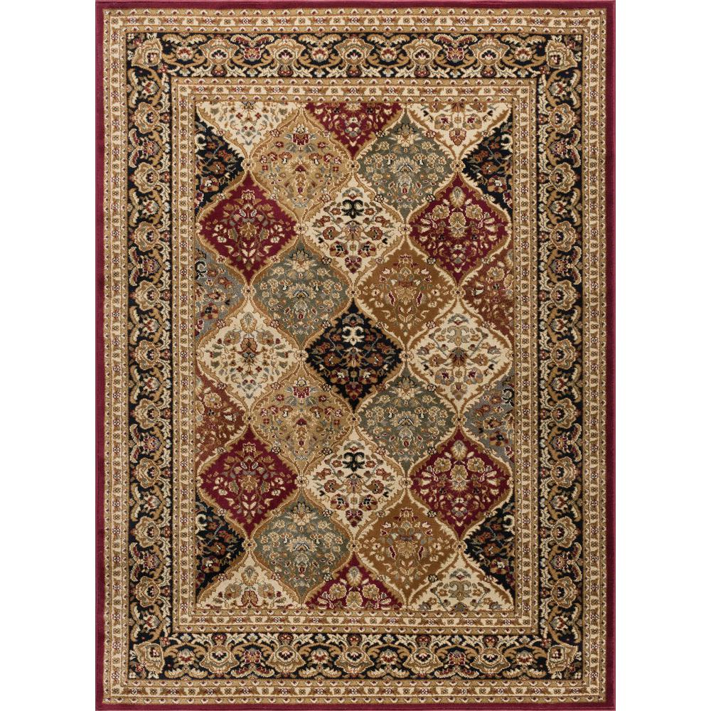 tayse rugs sensation red 11 ft x 15 ft transitional area rug sns4770 11x15 the home depot. Black Bedroom Furniture Sets. Home Design Ideas