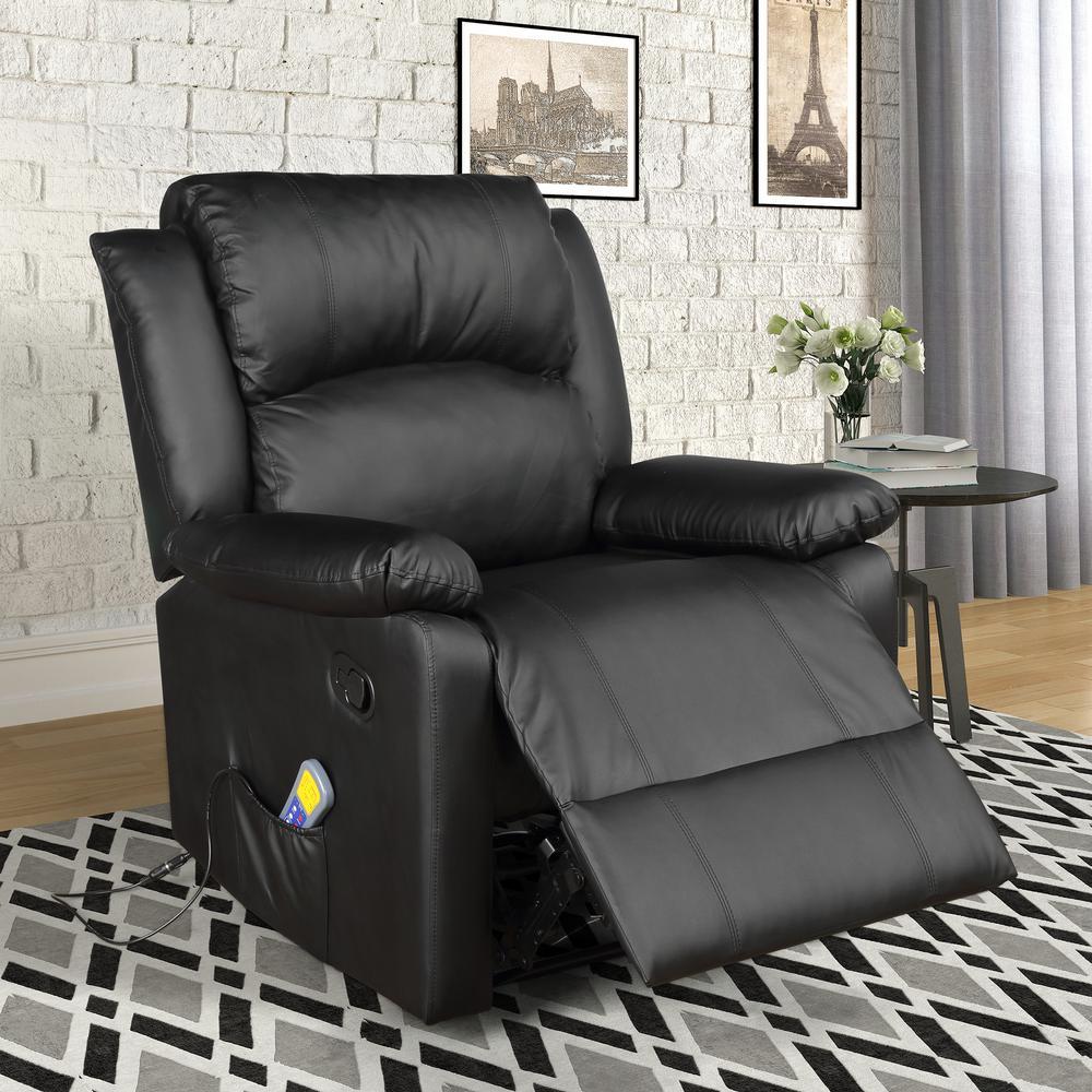 Fabulous Merax Black Power Massage Reclining Chair With Heat And Short Links Chair Design For Home Short Linksinfo