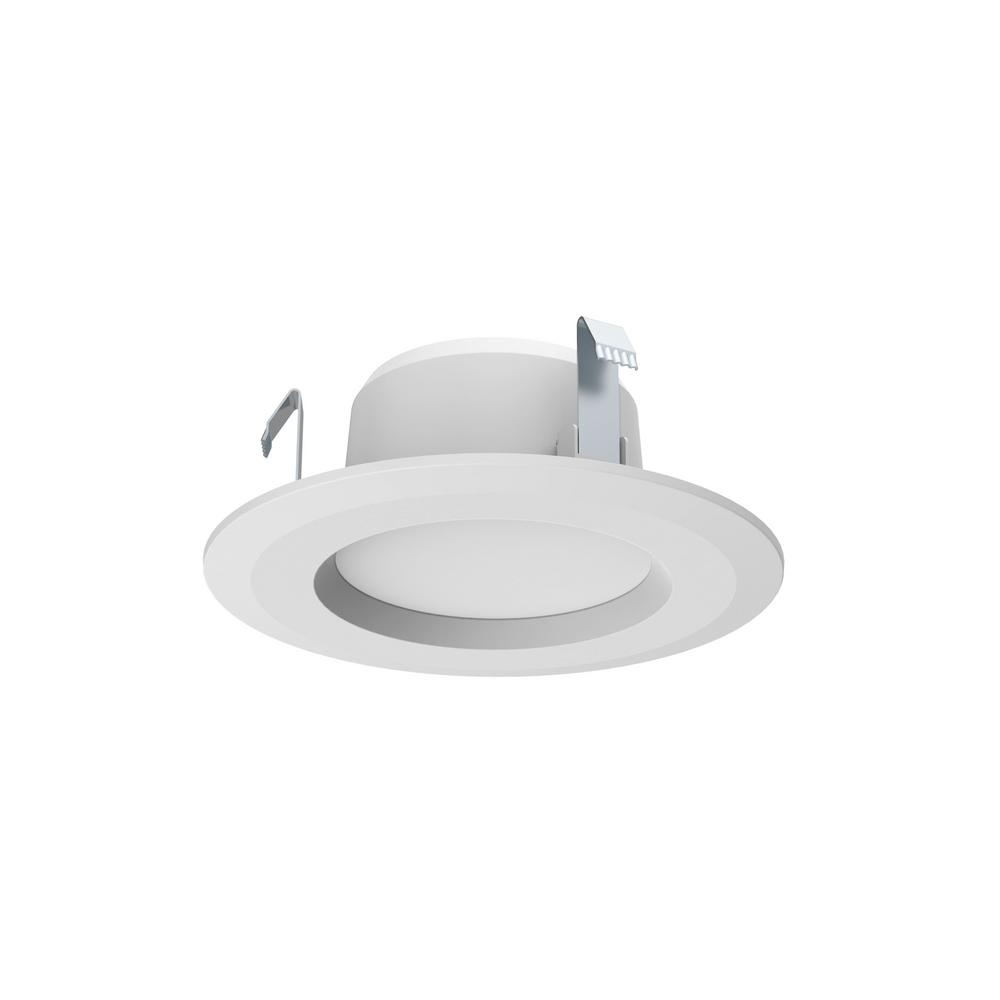 Recessed Lighting Electric Bill : Commercial electric in white integrated led recessed