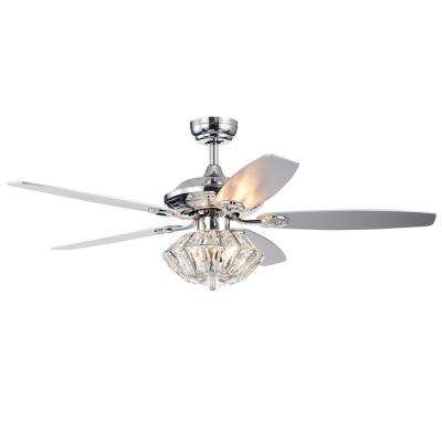 Copper Grove Toshevo 52 in. Indoor Chrome Remote Controlled Ceiling Fan with Light Kit