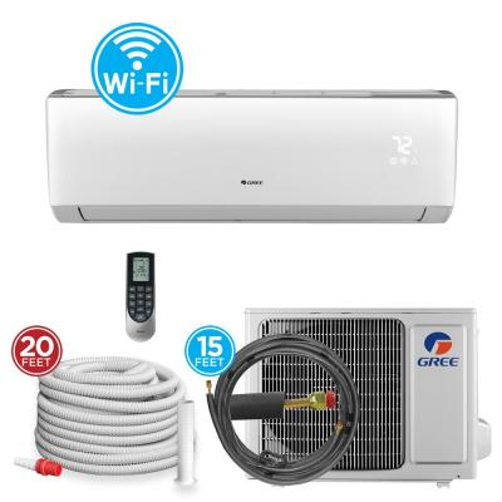 36,000 BTU Wi-Fi Programmable 3 Ton Ductless Mini Split Air Conditioner with Heat Kit - 230-208-Volt/60Hz