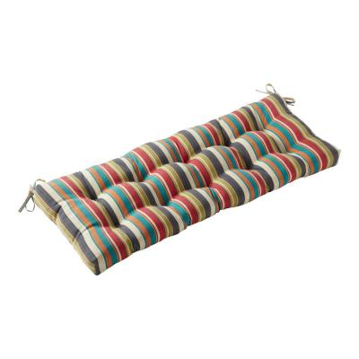 Sunset Stripe 44 in. x 17 in. Rectangle Outdoor Bench/Swing Cushion