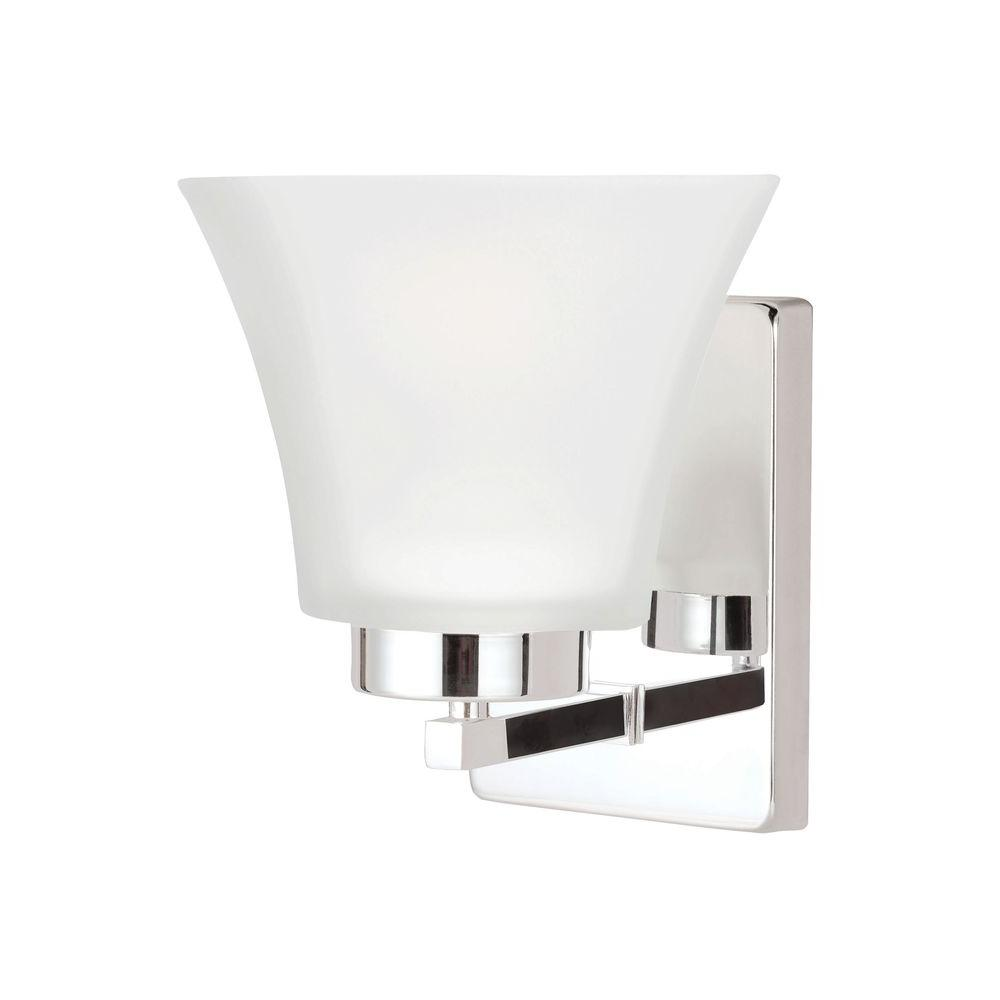 Sea Gull Lighting Bayfield 1-Light Chrome Wall Sconce