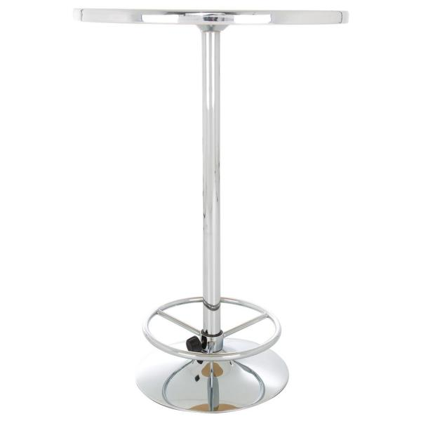 Trademark Guinness Feathering Pint Chrome Pub/Bar Table GN2000-FTHR