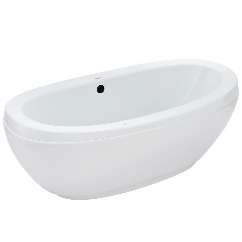MAAX Romance 66 in. Acrylic Center Drain Air Bath Flatbottom ...