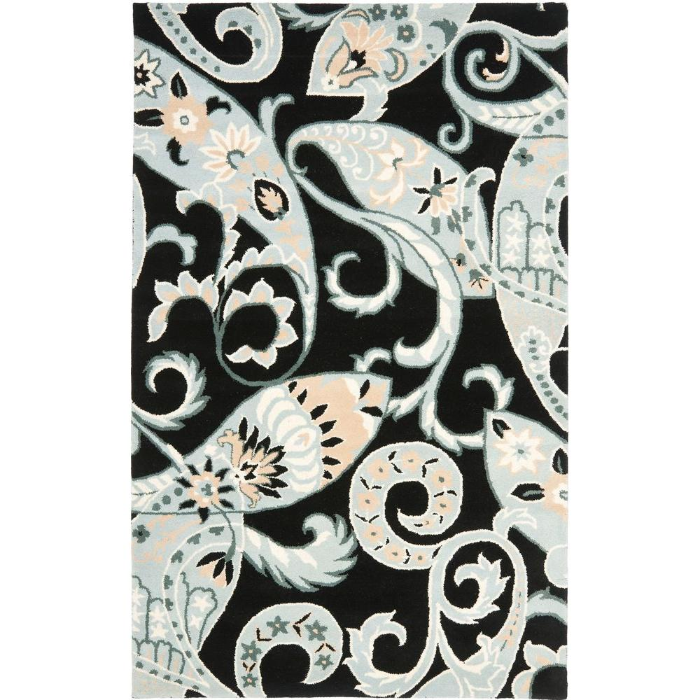 Wyndham Black/Multi 4 ft. x 6 ft. Area Rug