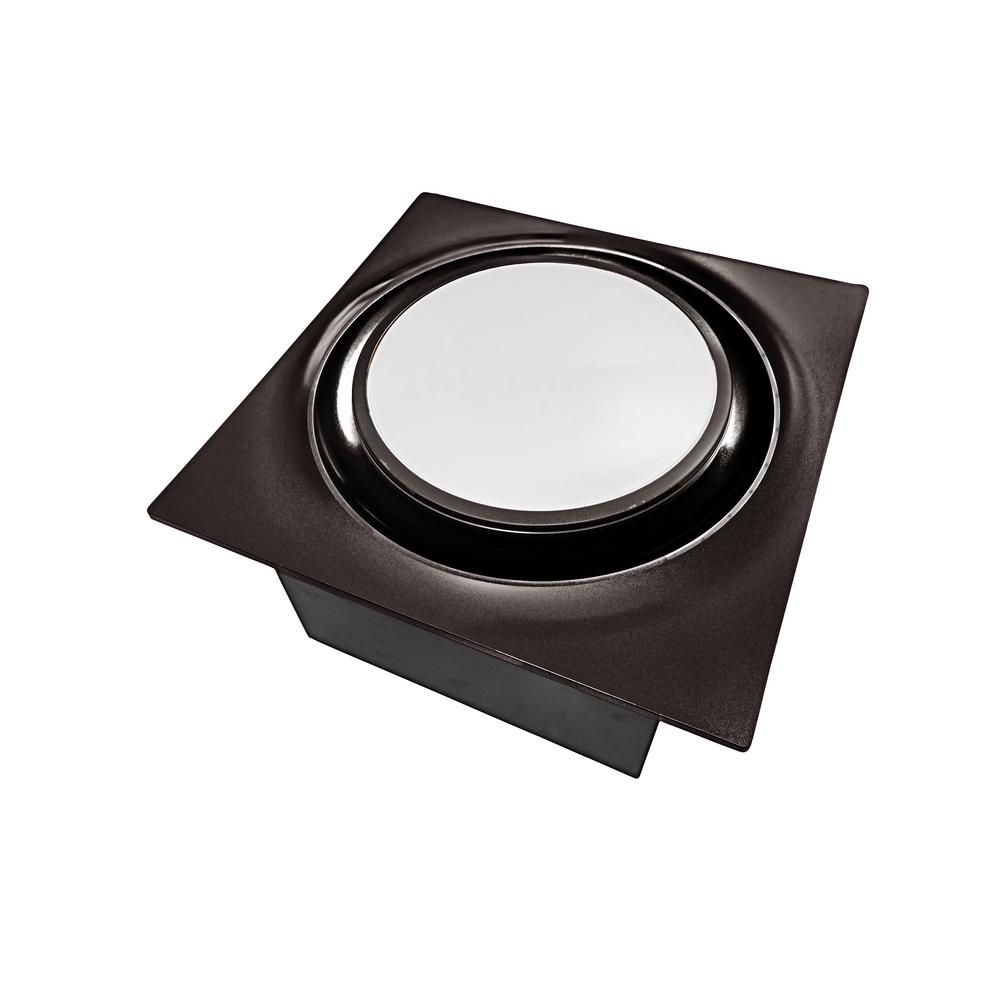 Aero Pure Low Profile 80 CFM Oil Rubbed Bronze 0.3 Sones Quiet Ceiling Bathroom Ventilation Fan with LED Light/Night Light