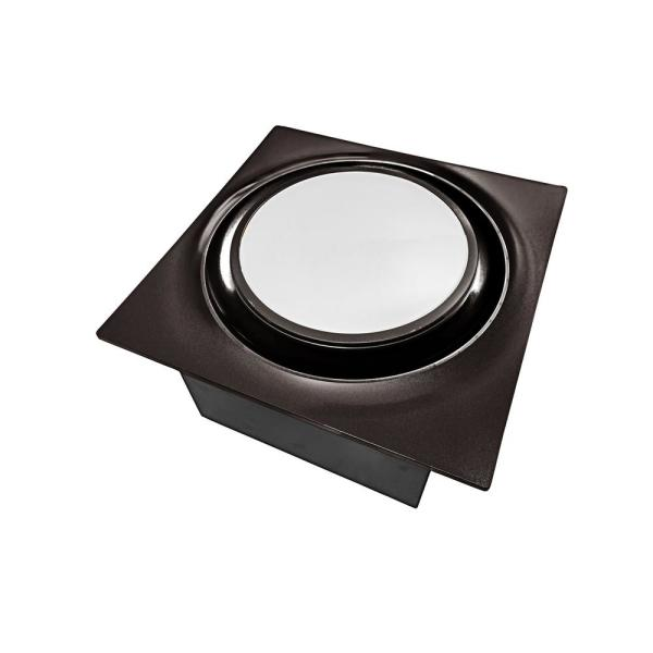 Low Profile 80 CFM Oil Rubbed Bronze 0.3 Sones Quiet Ceiling Bathroom Ventilation Fan with LED Light/Night Light