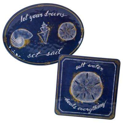 Calm Seas 2-Piece Platter Set