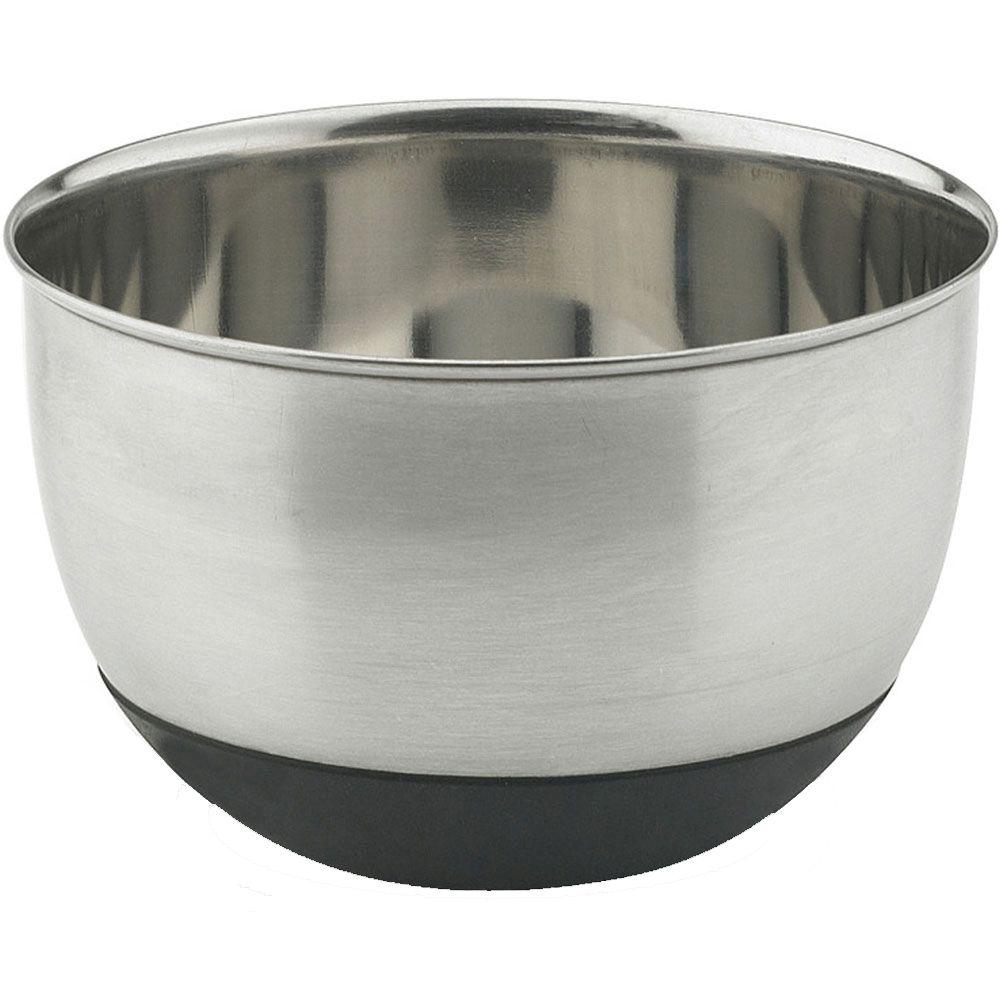 Vinaroz Stainless Steel Collection 5 qt. Mixing Bowl with Silicon Base-DISCONTINUED