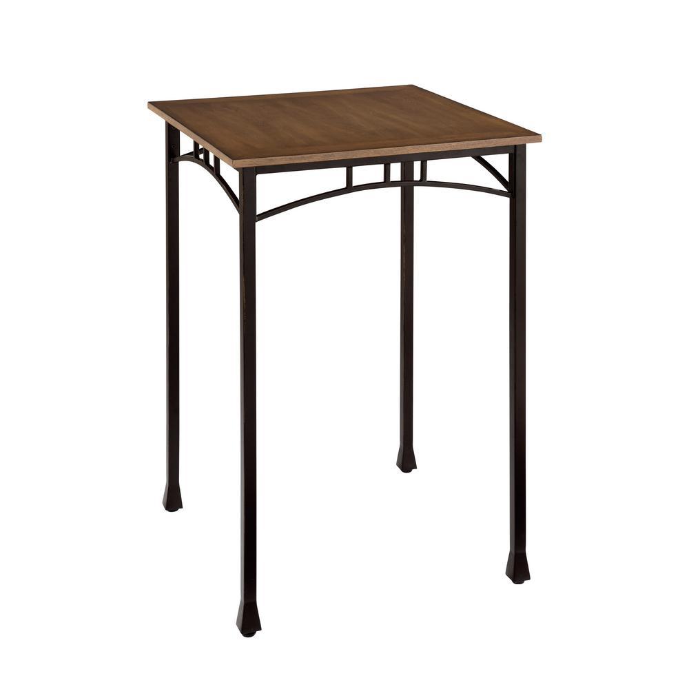 Modern Craftsman Distressed Oak Pub/Bar Table