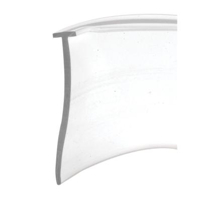 Shower Door Bottom Sweep, 36 in. x 1 in. Strip, Vinyl Construction, Clear, 5/32 in. Tee Insert Shape