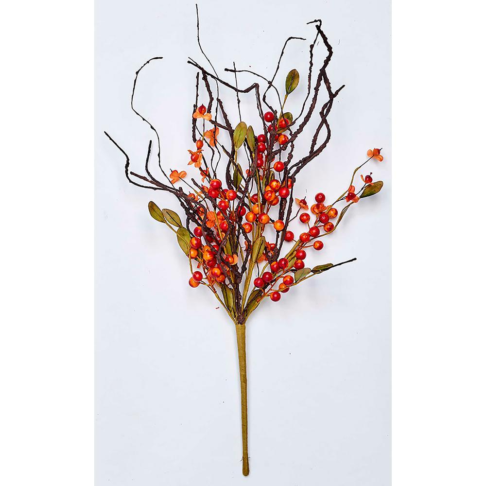 21 in. Fall Berry Twig Bush (2-Set)