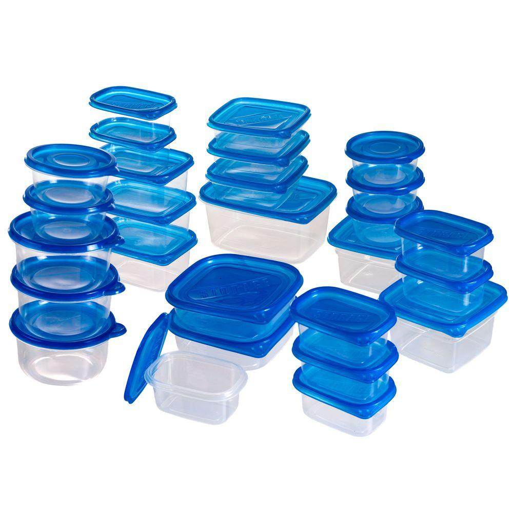Chef Buddy Food Storage Container Set With Air Lids 54 Piece