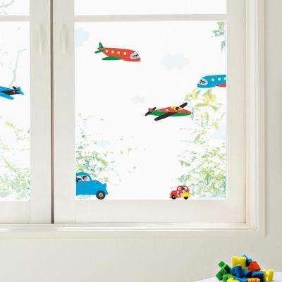 Multi-Color Car Themed Wall Decal