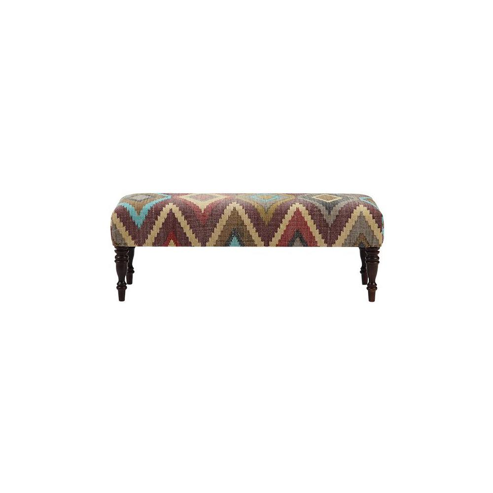 Home decorators collection locus geometric fiesta bench for Home decorators bench