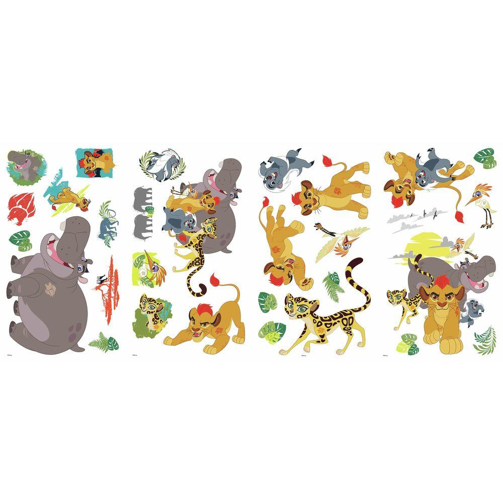 5 In W X 11 H Lion Guard 30 Piece L And Stick Wall Decal